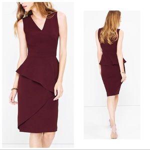 🍂 NWT Burgundy Peplum Dress | Size 12P